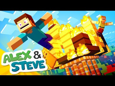 🔥 HOUSE FIRE | The Minecraft Life of Alex & Steve | Minecraft Animation