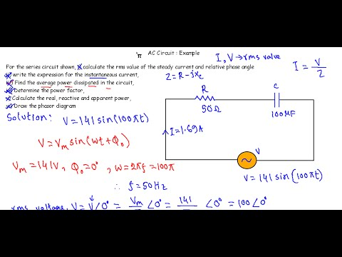 AC Circuit Example 3: RC series circuit