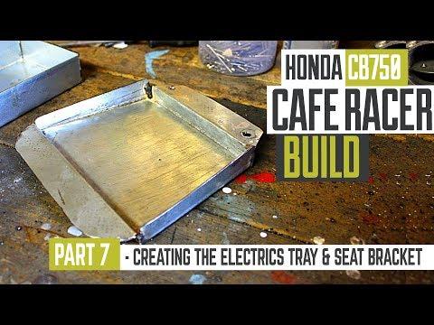 Honda CB750 Cafe Racer Part 7 - Creating the electrics tray & seat bracket