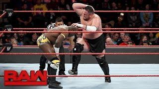 Apollo Crews vs. Samoa Joe: Raw, Oct. 30, 2017