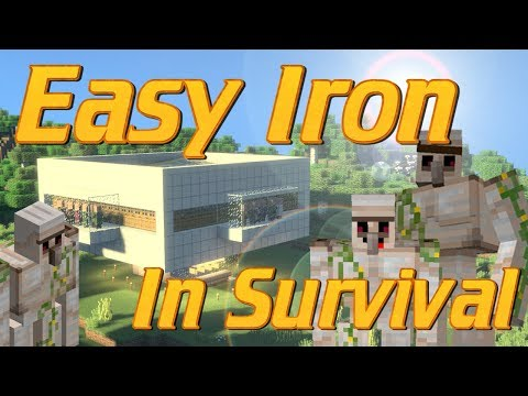 How to Make an Iron Farm in Minecraft | Iron Golem Farm | Minecraft Iron Farm Tutorial Lets Build