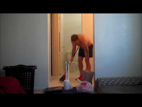 Cleaning my bathroom in #fastmotion