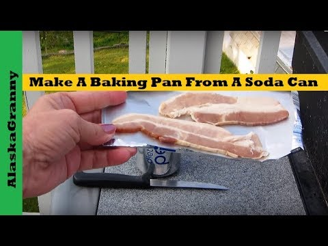 Make A Baking Pan From A Soda Can