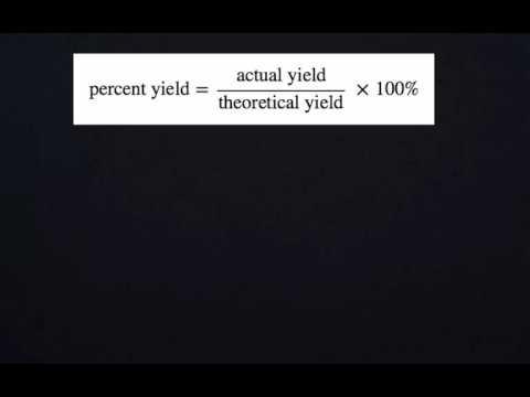 Percent Yield of Chalk