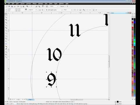 Easy Clock Faces for Imprinting Using CorelDRAW: Method #1 -