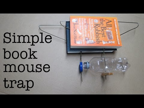 How to make ● a Simple HUMANE BOOK Mousetrap  ( that works ! )