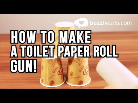 How to make a toilet paper roll gun! - Lifehack