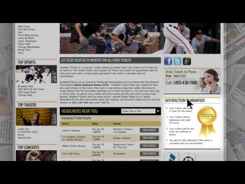 Headline Tickets   Cheap Concert, Sports and Theater Tickets