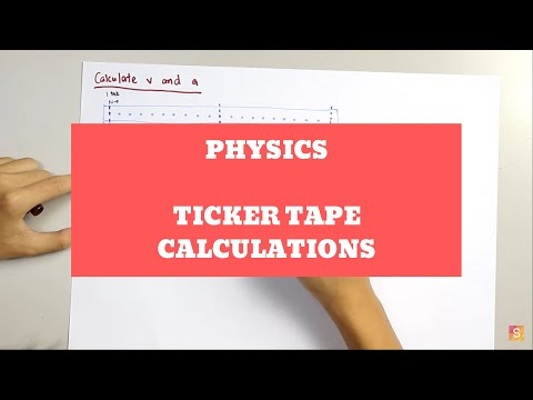 Physics - Ticker tape calculations
