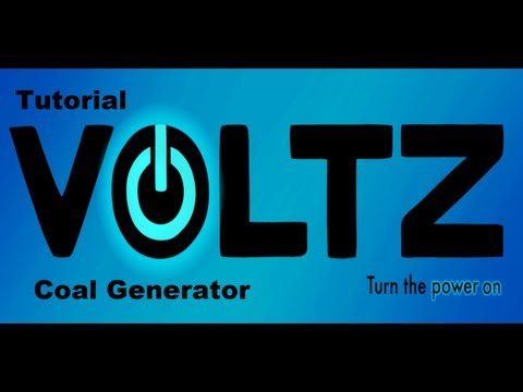 Minecraft Voltz Step-by-Step tutorial - Coal generator