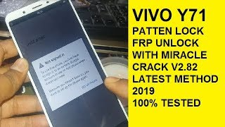 Vivo Y71 (Vivo 1724) Pattern, Password & FRP Lock Remove Done Via