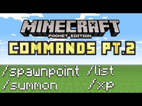 Minecraft PE - How To Use Commands! (Basic Commands Tutorial Pt.2!)