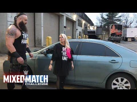 Braun Strowman teaches Alexa Bliss how to flip cars for WWE Mixed Match Challenge