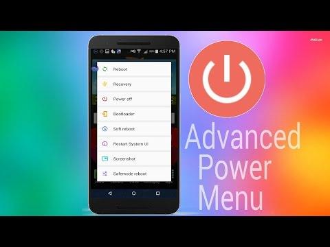 Advanced power menu!