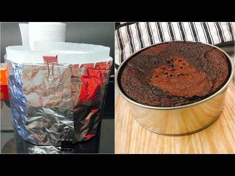 How to make DIY Baking Strip + achieve that Perfect Flat Top cake