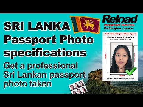 Sri Lankan Passport Photo requirement & Visa Photo for Sri Lanka at Reload Internet in Paddington