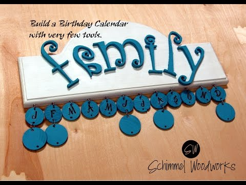 Make an (almost) NO TOOL Birthday Calendar   Easy DIY Wall hanger