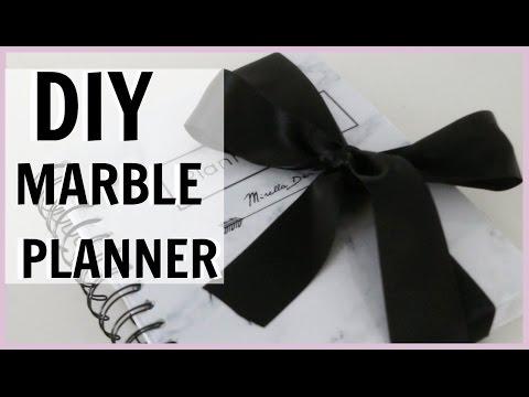 DIY: MARBLE PLANNER (SLAY 2017!)   Mirella Derungs