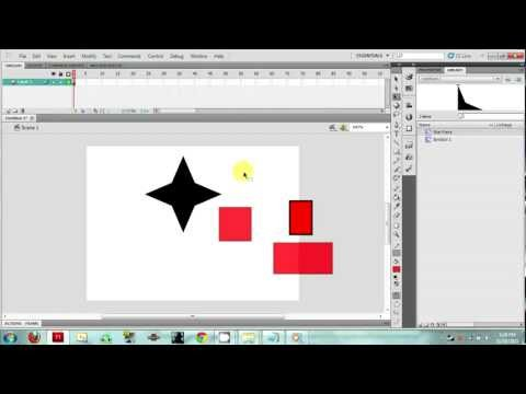 Introduction to Flash (CS5) - Opacity (Alpha), Flipping, and Paste in Place