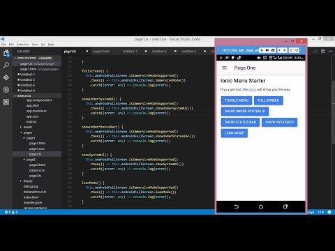 Fullscreen mode for Ionic 2 mobile application using Cordova Plugin