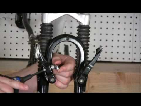 Installing V Brakes on a bicycle