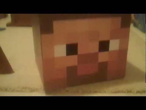 Minecraft Review Cardboard Steve Mask