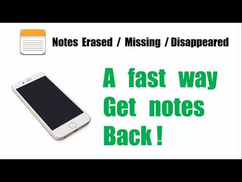 A fast way to get back erased/missing/disappeared notes on iPhone
