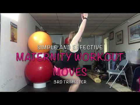 Simple and Effective 3rd Trimester Maternity Pregnancy Workout Moves 5/8