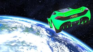 SPACE TO EARTH IN GTA! (GTA 5 Funny Moments)