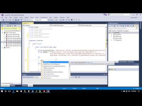 Create SQL Table in C# | Dynamically Create SQL Table in C#