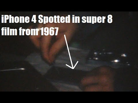 Apple iPhone 4 seen in 1967 Super 8 film. Bobs Birthday Party.