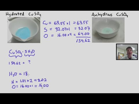 Calculating the Percent Water in a Hydrate - Mr Pauller