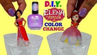 D.I.Y. Princess ELENA of AVALOR vs Sofia the First Color Change Kids Craft