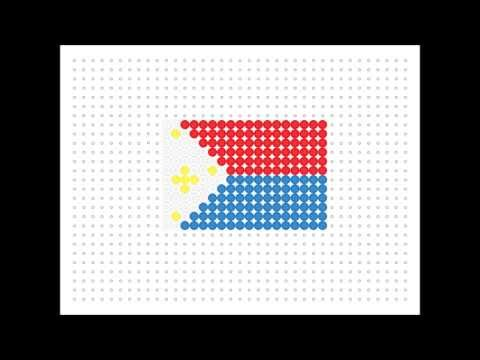 Hama Bead Filipino Flag (Flag Series 2 #10)