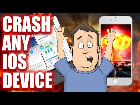 How to remotely crash or hack any iOS based device. iPhone, iPad & Apple Watch