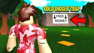 I Captured MOLLYBASKETRABBIT With A GOLD DIGGER TRAP.. You Won
