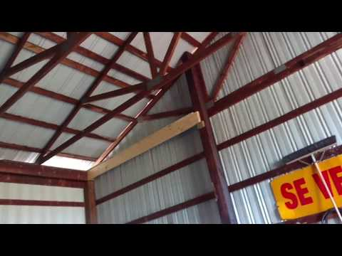 SHOP CEILING PART 1) CLEANING UP THE TRUSSES & ADDING FRAMING