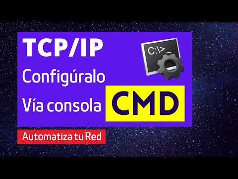 Cambiar la configuración del protocolo TCP/IP a traves del CMD