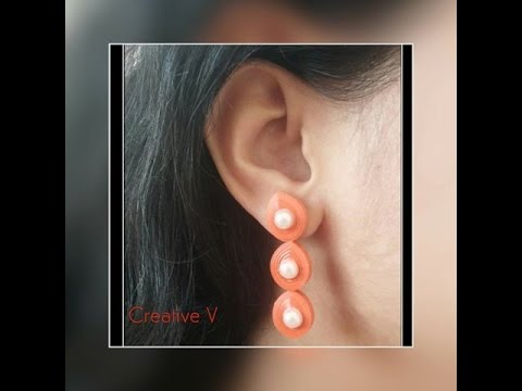 How to make Quilling Stud Earrings Tutorial / quilling earrings / Design 4 / #36