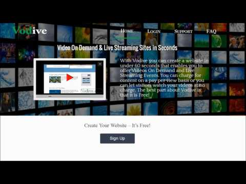Create a Video On Demand & Live Streaming Video Sharing Website in Seconds