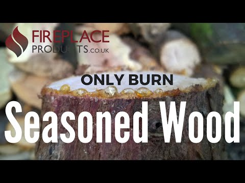Never burn unseasoned wood in your stove - live demonstration