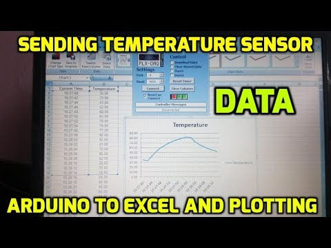 Sending Temperature Sensor Data From Arduino to Excel and Plotting