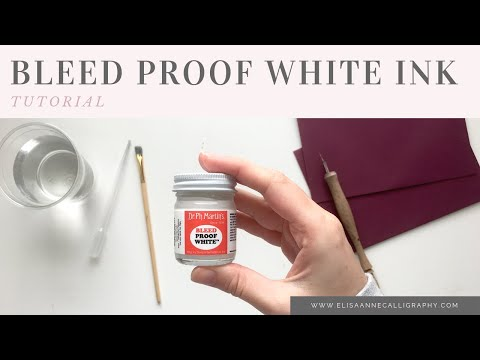Pointed Pen Calligraphy with Dr. Ph Martins Bleed Proof White Ink