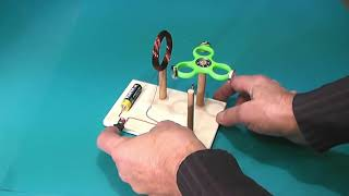 Fidget spinner pushed by an electromagnetic coil