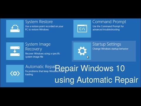 How To Use Automatic Repair To Repair Windows 10