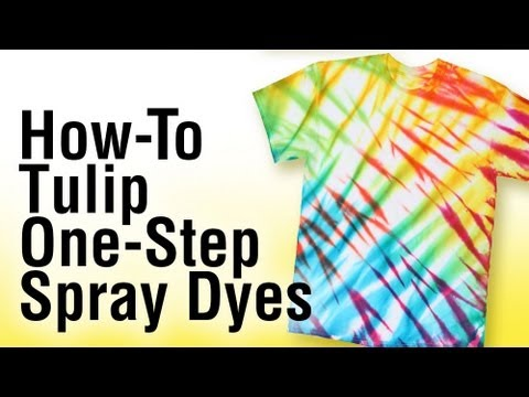 How-to Tie Dye using Tulip One-Step Spray Dye
