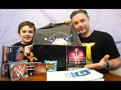 wwe SlamCrate Monthly subscription Unboxing