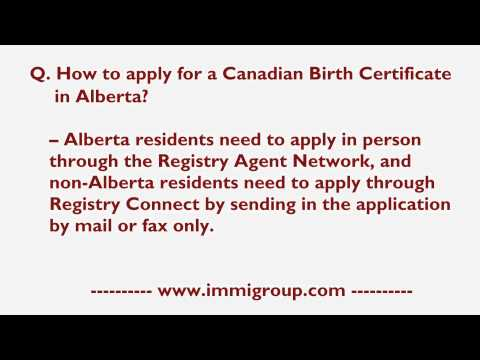How Do I Apply For A Canadian Birth Certificate In Alberta?
