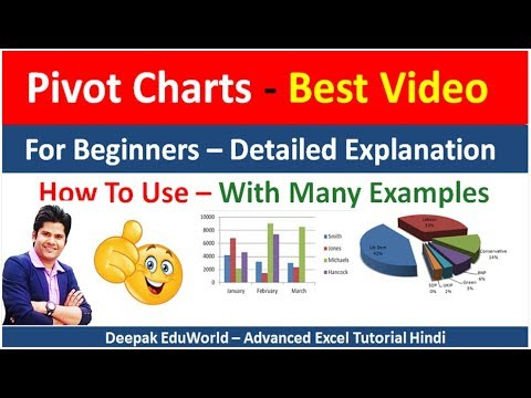 how to use pivot chart in excel in Hindi | Best Video With Many Examples