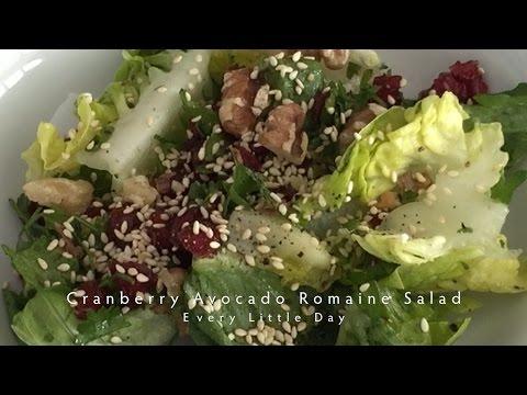 Cranberry Avocado Romaine Salad (Vegan) #02
